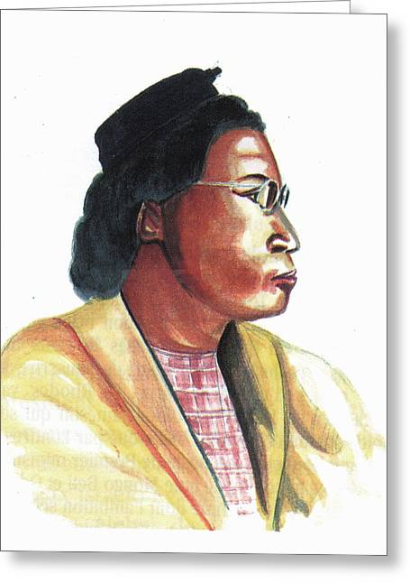 Civil Rights Greeting Cards - Rosa Parks Greeting Card by Emmanuel Baliyanga