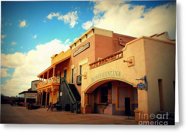 Rosas Cantina In Old Tuscon Az Greeting Card by Susanne Van Hulst