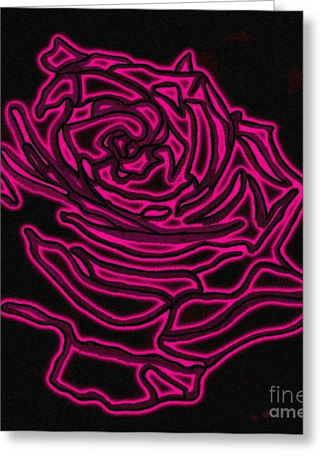 Floral Digital Drawings Greeting Cards - Rose 2 Greeting Card by Christine Perry