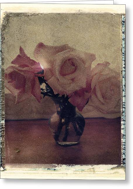 Transfer Greeting Cards - Rose and Vase Greeting Card by Joe  Palermo