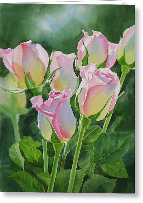 Roses Paintings Greeting Cards - Rose Array Greeting Card by Sharon Freeman