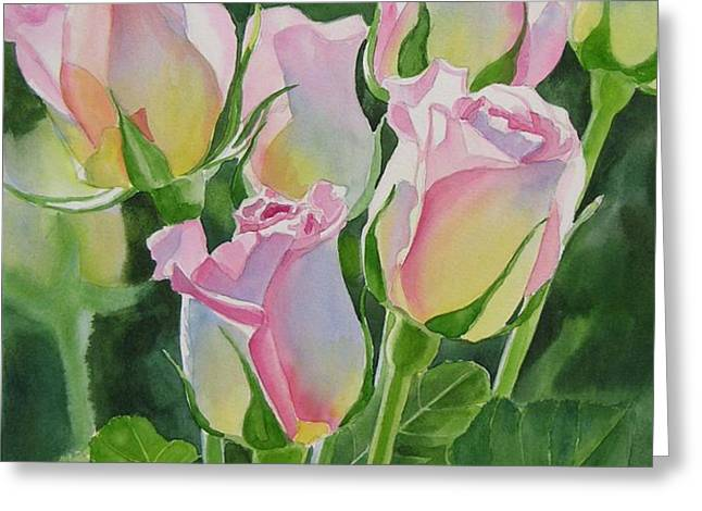 Rose Array Greeting Card by Sharon Freeman