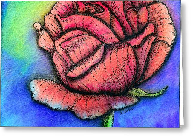 Dior Greeting Cards - Rose Greeting Card by Dion Dior