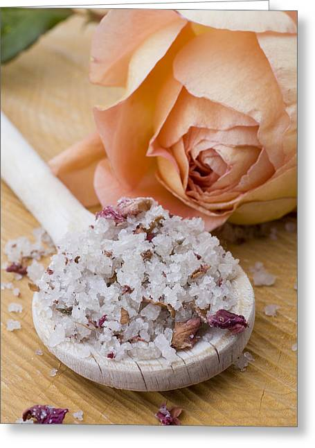 Delis Greeting Cards - Rose-flavored sea salt Greeting Card by Frank Tschakert