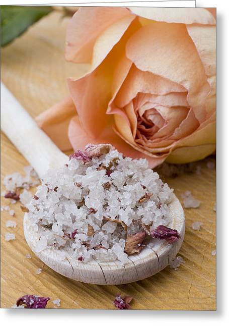 Salt Sea Greeting Cards - Rose-flavored sea salt Greeting Card by Frank Tschakert