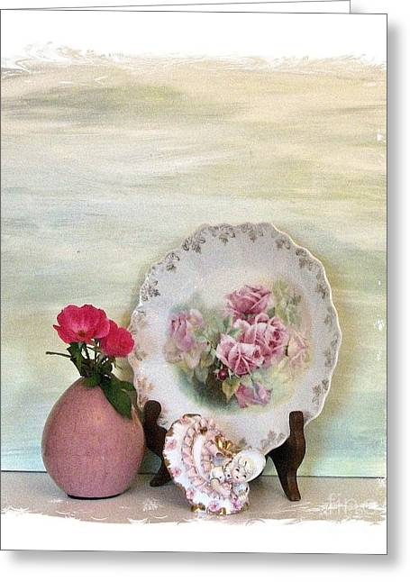 Muted Mauve Greeting Cards - Rose Garden ll Greeting Card by Marsha Heiken