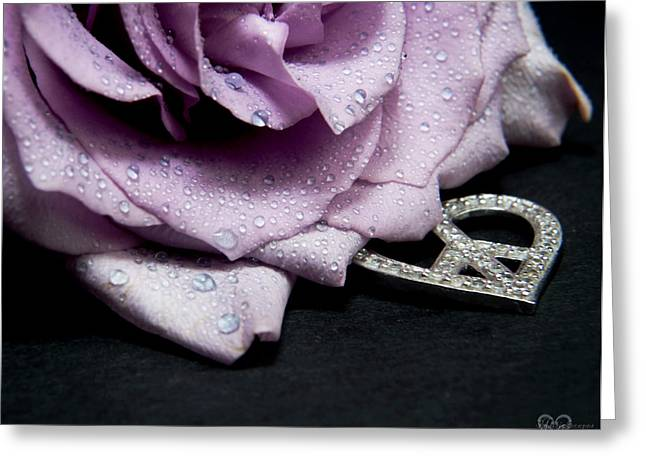 Water Drops Photographs Greeting Cards - Rose Love and Peace Tow Greeting Card by Karen Musick