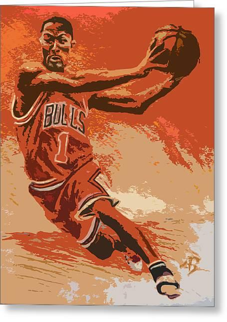 Derrick Rose Greeting Cards - Rose Pastel Poster Greeting Card by Adam Barone