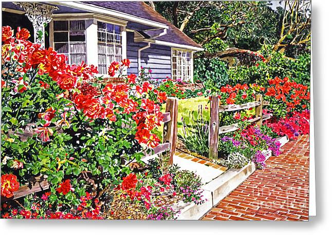 Patio Decor Greeting Cards - Rose Ranch House - Bel-Air Greeting Card by David Lloyd Glover
