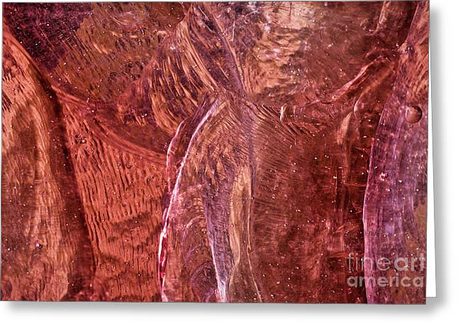 Watermelon Greeting Cards - Rose Stained Glass Greeting Card by Susan Isakson