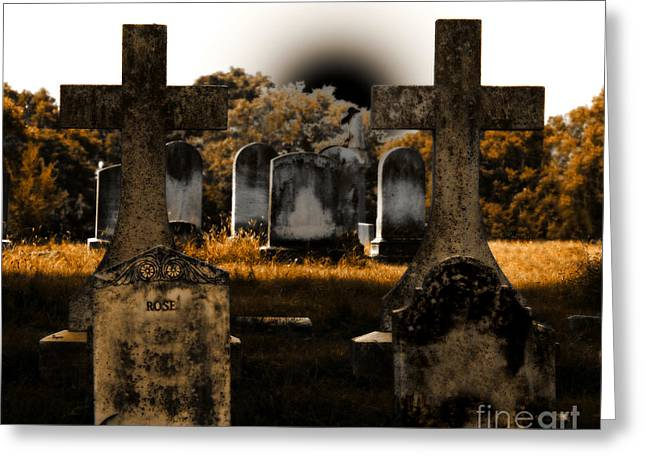 Historical Cemetery Greeting Cards - Rose Greeting Card by Steven  Digman