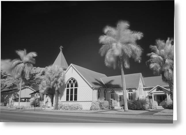 Anna Maria Island Greeting Cards - Roser Memorial Community Church on Anna Maria Island Greeting Card by Rolf Bertram