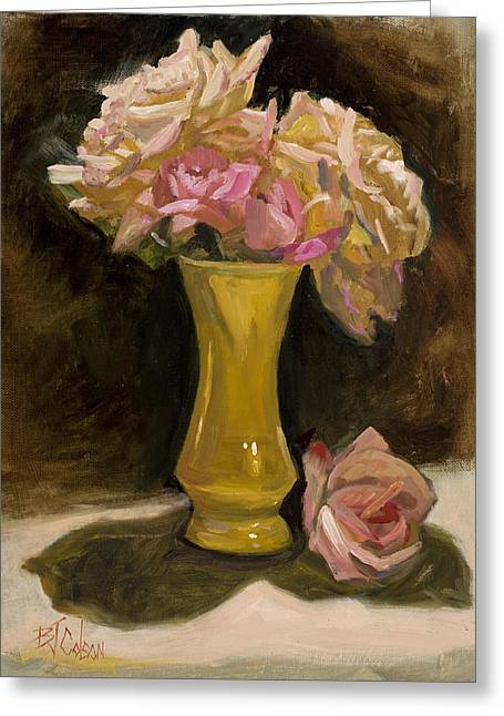 Bouquet Of Roses Greeting Cards - Roses from a Friend Greeting Card by Billie Colson