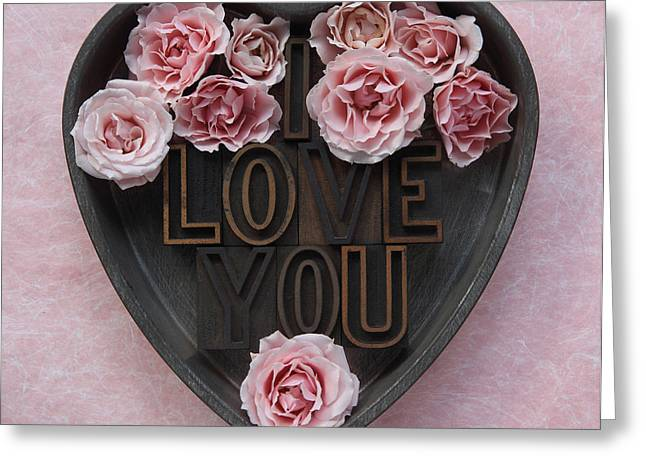 Pan Cakes Greeting Cards - Roses I Love You Greeting Card by Ruby Hummersmith