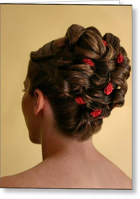Updo Greeting Cards - Rosettes Greeting Card by Kristin Elmquist