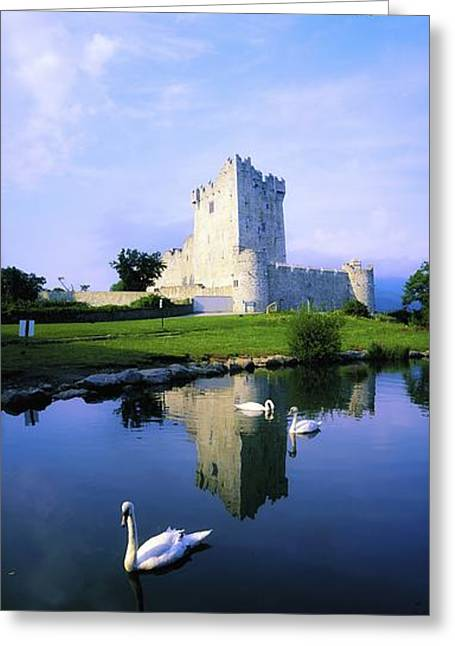 Castle In Valley Greeting Cards - Ross Castle, Lough Leane, Killarney Greeting Card by The Irish Image Collection
