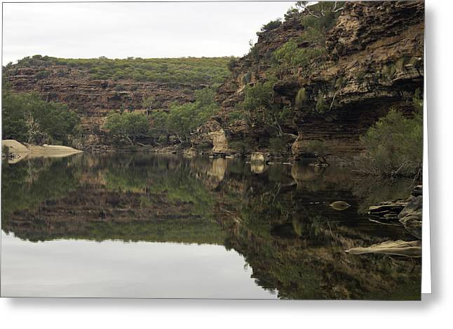 Ross Graham Gorge Greeting Card by Robert Caddy
