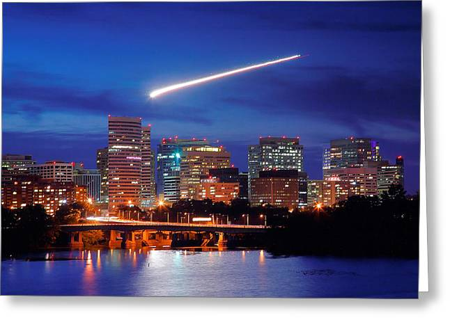 Jet Print Greeting Cards - Rosslyn Skyline II Greeting Card by Steven Ainsworth