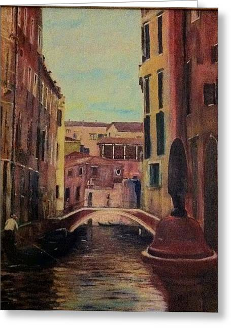 B Russo Greeting Cards - Rosso Veneziano Greeting Card by B Russo
