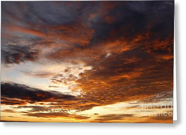 Recently Sold -  - Gloaming Greeting Cards - Rosy Sky Greeting Card by Michal Boubin