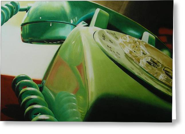 Telephone Greeting Cards - Rotary Greeting Card by Denny Bond
