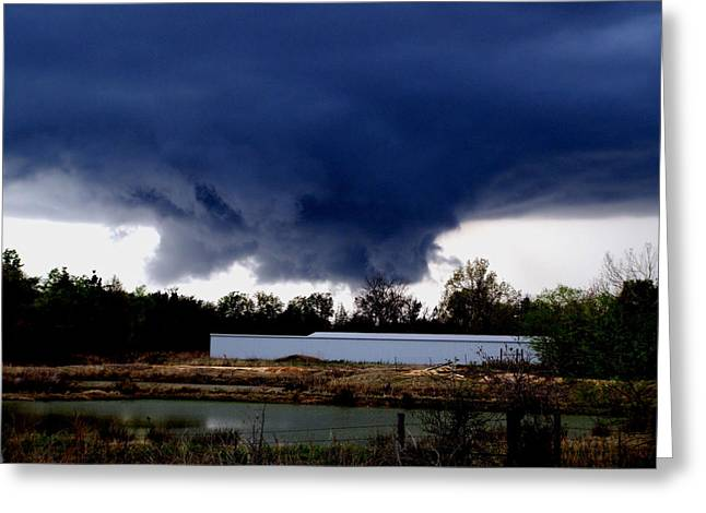 Rotate Greeting Cards - Rotating Wall Cloud Greeting Card by Karen M Scovill