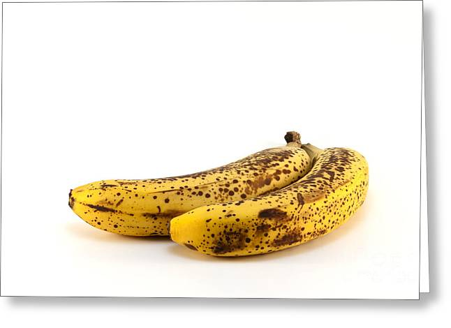 Spoiled Greeting Cards - Rotten bananas Greeting Card by Blink Images