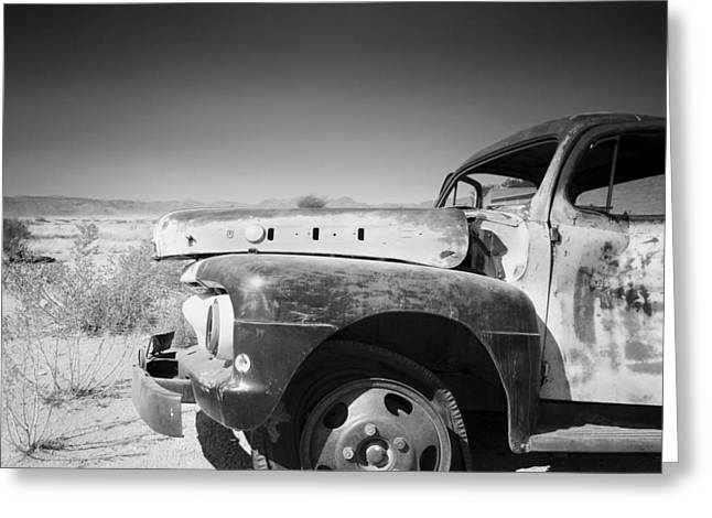 Wrecked Cars Greeting Cards - Rotten Car Greeting Card by Nina Papiorek