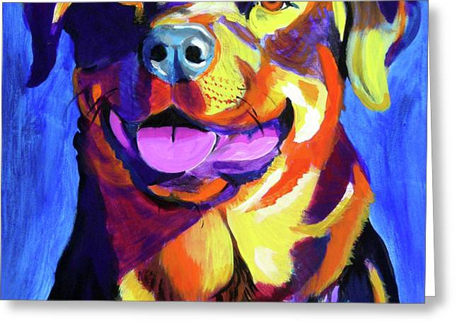 Rottweiler - Starr Greeting Card by Alicia VanNoy Call
