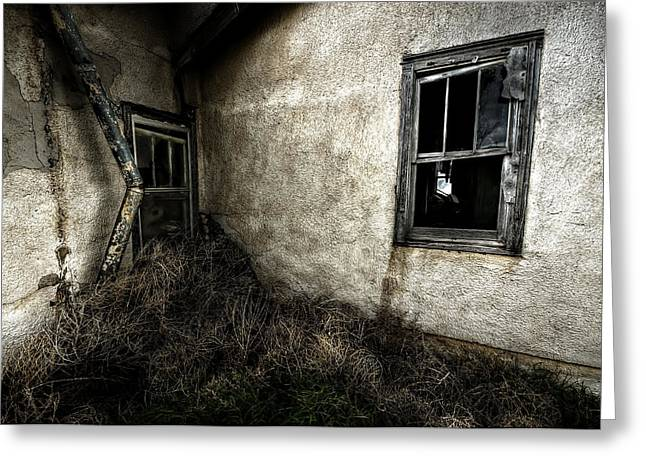 Abandoned Houses Photographs Greeting Cards - Rough Exterior Greeting Card by Shane Linke