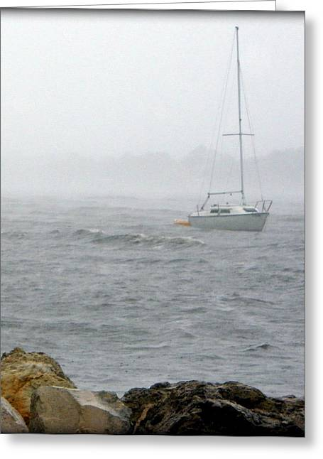 Storm Prints Digital Art Greeting Cards - Rough Waters Greeting Card by Sheri McLeroy