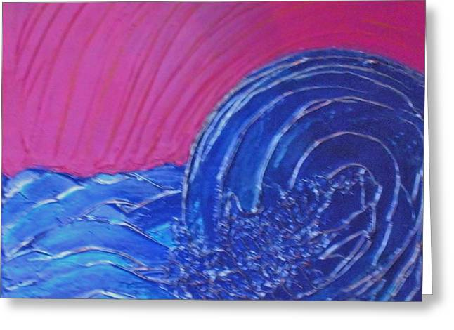 Storm Prints Paintings Greeting Cards - Rough Waters Greeting Card by Tami Bush