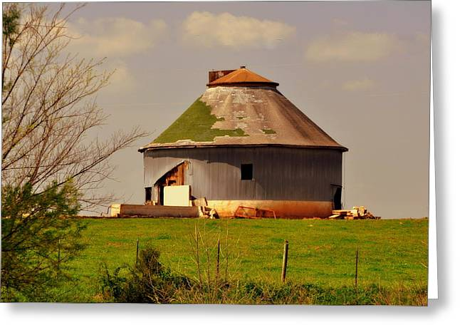 Round Barn Greeting Card by Marty Koch