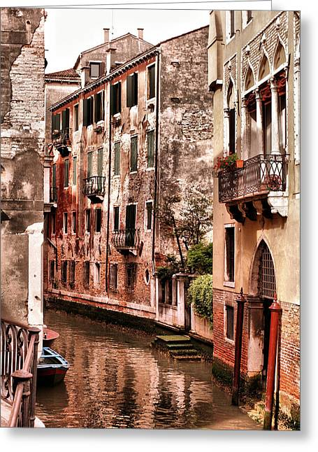 Italian Restaurant Greeting Cards - Round the Bend Greeting Card by Greg Sharpe
