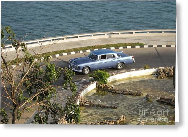 Cuba Greeting Cards - Roundabout Greeting Card by Stav Stavit Zagron