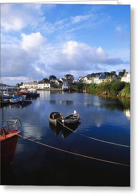 Co Galway Greeting Cards - Roundstone, Connemara, Co Galway Greeting Card by The Irish Image Collection