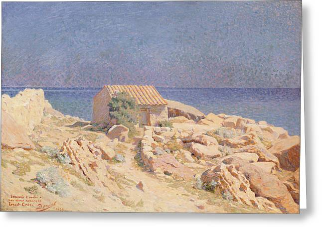Shack Greeting Cards - Roussillon Landscape Greeting Card by Georges Daniel de Monfreid