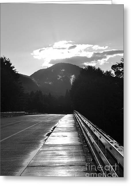Sun Behind Clouds Greeting Cards - Route 2 West Greeting Card by Luke Moore