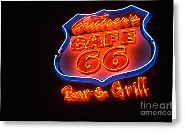 Route 66 Emblems Greeting Cards - Route 66 Bar and Grill Greeting Card by Bob Christopher