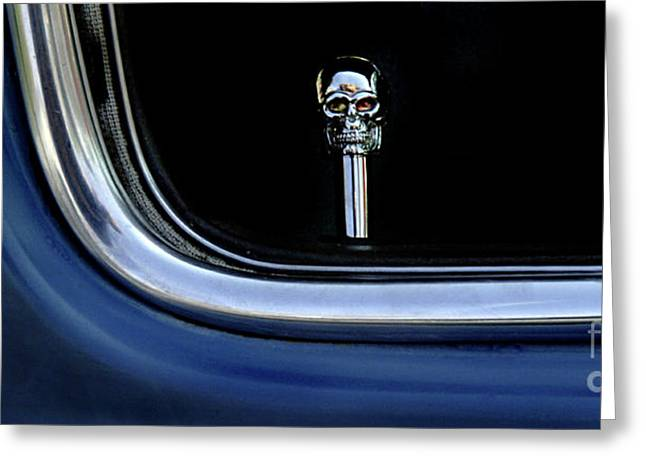 Jay Leno Greeting Cards - Route 66 Classic Car Detail 1 Greeting Card by Bob Christopher