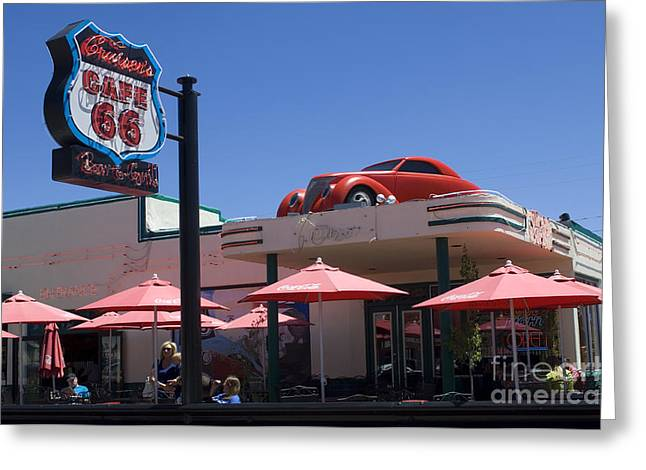 Sights Along Route 66 Greeting Cards - Route 66 Cruisers Williams Arizona Greeting Card by Bob Christopher
