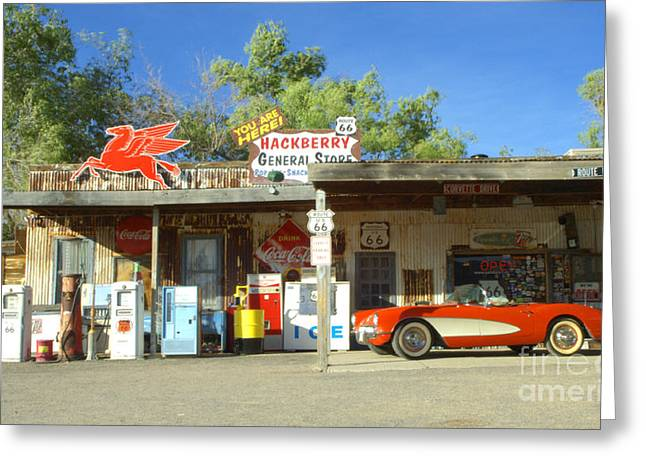 Sights Along Route 66 Greeting Cards - Route 66 Hackberry Arizona Greeting Card by Bob Christopher