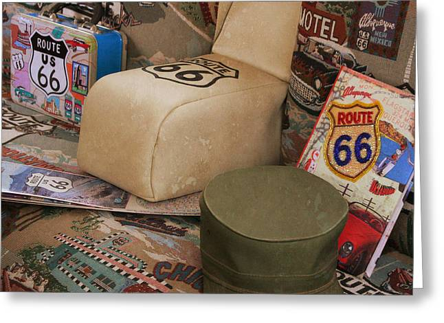 Lunch Box Greeting Cards - Route 66 Memorablilia Greeting Card by Joel Witmeyer