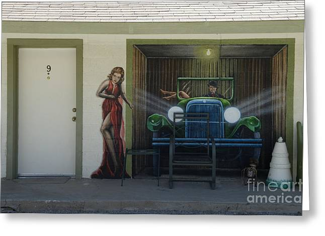 Jay Leno Greeting Cards - Route 66 Motel Arizona Greeting Card by Bob Christopher