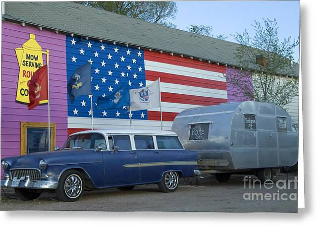 Jay Leno Greeting Cards - Route 66 Nomad Greeting Card by Bob Christopher