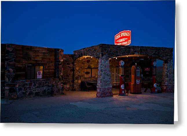 66 Greeting Cards - Route 66 Outpost Arizona Greeting Card by Steve Gadomski