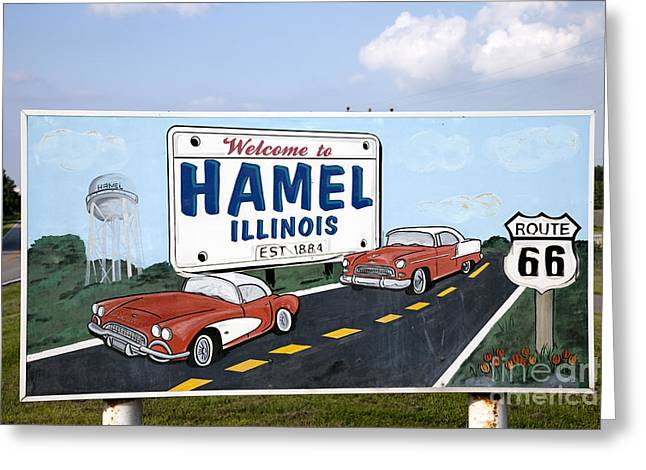 Hamels Photographs Greeting Cards - Route 66 Sign, 2009 Greeting Card by Granger
