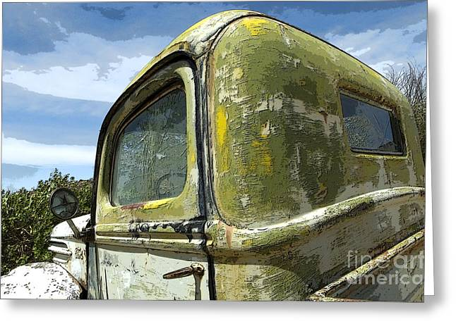 Sights Along Route 66 Greeting Cards - Route 66 Vintage Truck Greeting Card by Bob Christopher