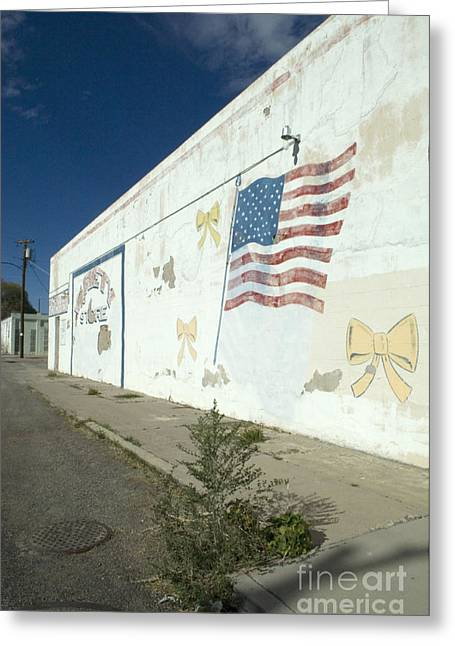 Wall Mural Greeting Cards - Route 66 Wall Greeting Card by Bob Christopher