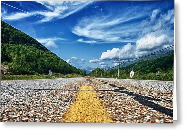Byway Greeting Cards - Route 7 Greeting Card by Nathan Larson